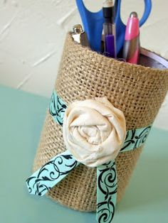 simply chic treasures: My Version of the TinCan Pencil Holder