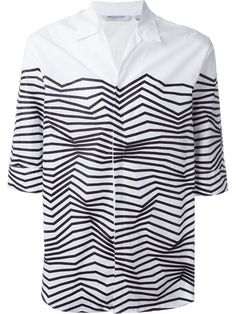 Shop Neil Barrett zigzag print shirt in Antonioli from the world's best independent boutiques at farfetch.com. Shop 400 boutiques at one address.