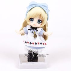 16.79$  Watch now - http://aliwgv.shopchina.info/1/go.php?t=32817099594 - Cu-poche friends Alice from Alice in Wonderland Nendoroid Doll PVC Action Figure Collectible Model Toy 13CM  #magazineonlinewebsite
