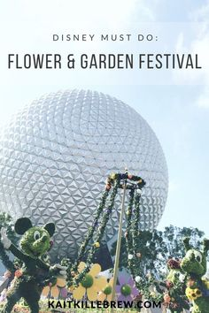 Epcot | Flower and Garden Festival | Disney Must Do | Walt Disney World | Things To Do in Disney | Epcot International Flower and Garden Festival | Violet Lemonade | Fun at Disney | Disney Parks | World Showcase | Future World | Disney Vacation Planning