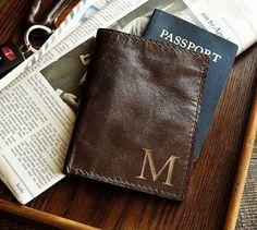 Third Wedding Anniversary, Leather: Saddle Leather Passport Holder | Pottery Barn
