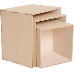 Regalelemente Quadrat, 3er-Set-Kleinmöbel & Leuchten-Wohnen-Lebensart - im Qiero Online-Shop kaufen.