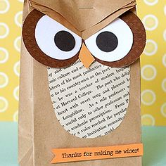 Two owl-themed ideas for the end of the school year.