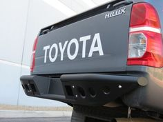 Look good from the back with our Toyota HiLux Stealth Rear Bumper. This HiLux Rear Bumper comes in Hammer Black and a pair of dually mounts. Toyota Hilux, Toyota 4x4, Toyota Trucks, Toyota Tundra, 4x4 Trucks, Toyota Tacoma, Pickup Accessories, Hors Route, Nissan