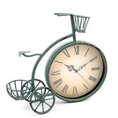 Blue Tricycle Desk Clock