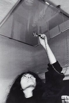 """Indica Gallery, """"Yes."""" in tiny print on the ceiling. - Yoko Ono, John Lennon"""