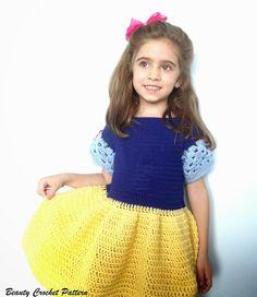 Crochet snow white dress.