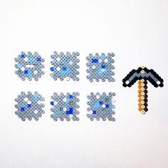 perler bead minecraft block other pictures of and perler beads 3d minecraft block pattern and pickaxe perler beads by pixelempire