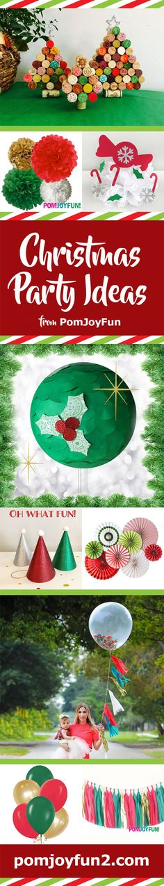Check it out! Christmas ideas from Pom Joy Fun, including holiday balloons and tassels.  Christmas holiday party hats and more