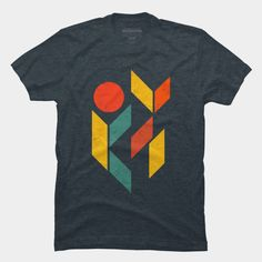 The Down T Shirt By SOMZEE Design By Humans. Vintage Best Abstract Geometric T-Shirt (Tees). Also the design in good for Geometric tattoo design inspiration. Absolutely one of the best and coolest street apparels.