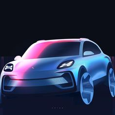 One more blue pinky . Happy Bday and Happy international women's day🎉🌺 _______________ Car Design Sketch, Truck Design, Car Sketch, Transportation Technology, Transportation Design, Exterior Rendering, Exterior Design, Human Drawing, Chevrolet Suburban