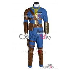 Fallout 4 FO Nate Vault #111 Outfit Jumpsuit Uniform Cosplay Costume_4