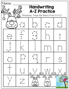 Handwriting A-Z Practice- Plus TONS more activities to help with fine motor skills in the December NO PREP Packet!