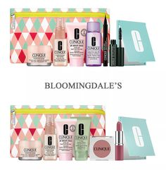 Choose your 8-piece Clinique gift when you spend $35 or more at Bloomingdale's Clinique Gift, Clinique Pop, Cleanser, Moisturizer, Face Spray, Cosmetic Kit, Lip Colour, Bright Eyes, Compact Mirror