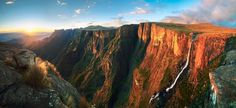 Falls and sunset- Drakensberg Mountains in South Africa - Dom Wills