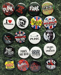 PUNK-COLLECTION-20-BUTTON-BADGES-1INCH-25MM-NEW-WAVE-POSTER-OI-ROCKERS-FANCY