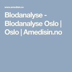 Blodanalyse - Blodanalyse Oslo   Oslo   Amedisin.no Oslo