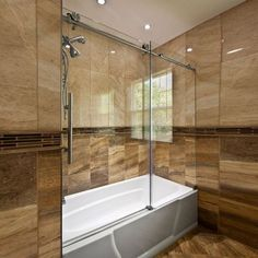 Ultra-C 60 x 62 Single Sliding Bath Tub Door Bathroom Renos, Bathroom Interior, Master Bathroom, Bathroom Fixtures, Bathtub Doors, Shower Doors, Bad Inspiration, Bathroom Inspiration, Bathtub Shower Combo
