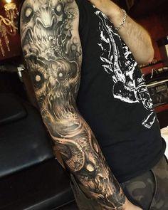#TattoocynProTeam artist  Carlos Aguilar @black_shadows_tattoos  #deathmetal #metal #hardrock #tattoo #darkartists  Artists and studios want to try Tattoocyn AfterCare - http://ift.tt/2bRIKwK  Latest post from our Instagram Account @tattoocyn