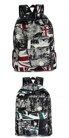Funky Retro Union Jack PU Backpack Rucksack School Bag