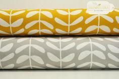 """Bio-Stoff """"Vines Gold"""", eignet sich super für Taschen, Kissen, Vorhänge und mehr / bio fabrics """"Vines Gold"""", can be used for cushions, bags, curtains and so on by Eulenmeisterei-Biostoffe via DaWanda.com"""