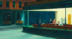 Nighthawks, 1942 by Edward Hopper - art print from King & McGaw Johannes Vermeer, Guernica, Edward Hopper Paintings, Framed Art Prints, Poster Prints, Canvas Prints, Posters, Arte Indie, Statue Antique