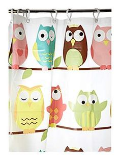 Wise Old Owl Shower Curtain from House of Fraser give.as/AlzLF5 Raises £0.50 for your charity through www.giveasyoulive...