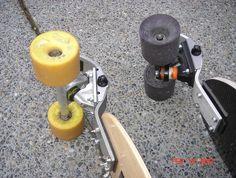 pavedwave distance skateboarding :: GBOMB CAMBIAR- portable tweakable longboard under test! Skateboard Trucks And Wheels, Longboard Trucks, Board Skateboard, Skateboard Decks, Longboard Deck, Longboard Design, Skateboard Design, E Skate, Skate Decks