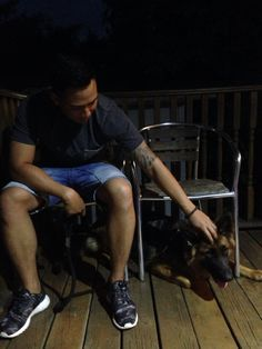 A man and his bestfriend