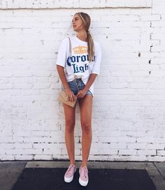 it's not illegal to wear this shirt Trendy Outfits, Summer Outfits, Cute Outfits, Fashion Outfits, Summer Clothes, Corona Girls, Emma Delury, Corona Shirt, Corona Beer