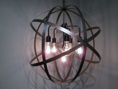 """Industrial Globe Hanging Orb Ceiling Light by VintageIronworks, $375.00, 6 x75 watts, 24"""""""