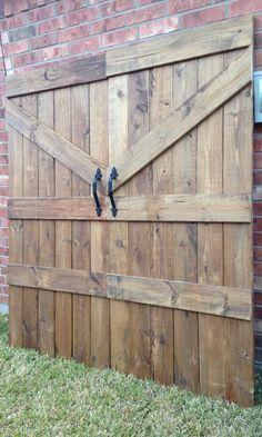 Handmade Barn Door Headboard - Farmhouse!
