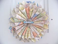 Map wreath ... All Roads Lead Home