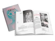 TWINS magazine by Alexia Petit, via Behance