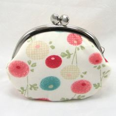 Coin Purse - Japanese Flowers and Bunny