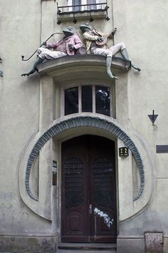 Frog House (Polish: kamienica Pod Żabami) is an example of art nouveau architecture in the city of Bielsko-Biała. https://www.facebook.com/EndearingBestowments