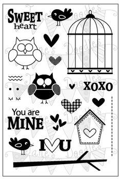 Jane's Doodles Sweet Heart stamp set