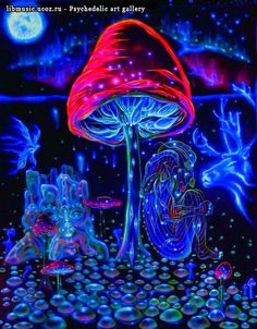 hippie MUSHROOM artwork - Google Search