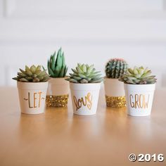 Pretty DIY flowerpots like these plant the seeds of thoughtfulness for Mother's Day gifts or for any loved friend or family member. Love will be in full ...