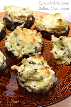 Spinach Artichoke stuffed Mushrooms @rubbermaid #GobbleAgain #IC AD