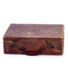 Vintage Leather Suitcase | ... antique suitcases antique leather ...