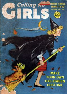 Vintage Halloween Magazine ~ Calling All Girls ©October 1962