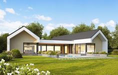 Bungalows, Dream Home Design, House Design, Simple House Plans, Model Homes, Building A House, New Homes, Exterior, Mansions