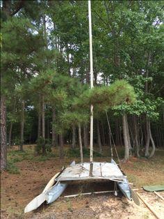 Hobie Cat 16 + Remorques route et mise à l'eau   Wood canoes and kayaks   Pinterest   Catamaran ...