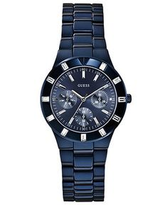 GUESS Women's Blue-Tone Stainless Steel Bracelet Watch 36mm U0027L3 - Women's Watches - Jewelry  Watches - Macy's