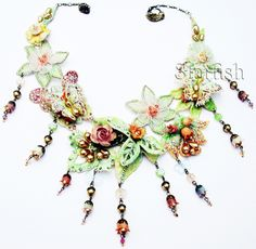 Michal Negrin Butterfly Garden Lace Necklace | eBay