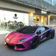This #Lamborghini is out of this world!   #galaxy #paintjob #autocolor