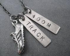 RUN TRACK 100 METER Necklace Track Running Necklace by TheRunHome