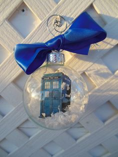 TARDIS Christmas Ornament Dr Who by Lameasaurus on Etsy, $8.00
