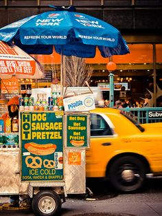 NYC Hot Dog Stand....my honey loves them but I think they are gross!!
